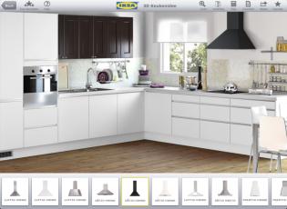 Keukenapparatuurapps ontwerp je keuken op je ipad - Keuken voor klein gebied ...