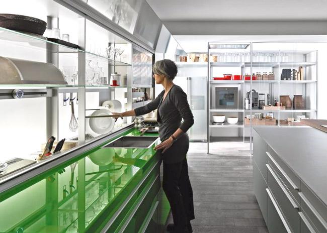 valcucine new logica doorzichtige keukenkastjes, Meubels Ideeën