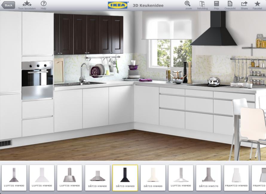 Zelf Keuken Intekenen : Keukenapparatuurapps ontwerp je keuken op je ipad