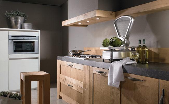 Old wood keukens steeds populairder