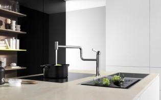 Keukenkraan 'Pivot' van Dornbracht draait 360 graden