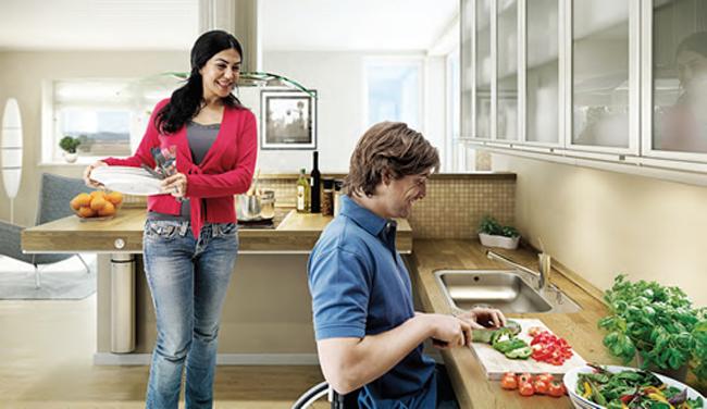 De wmo keuken: een aangepaste of onderrijdbare keuken
