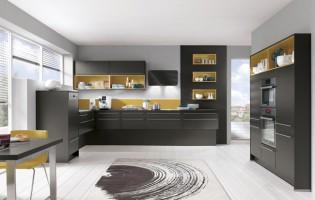Zwarte-keuken-met-kleur