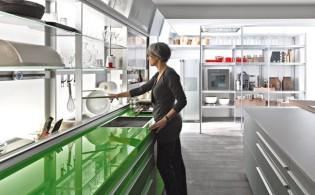 Doorzichtige keukenkastjes