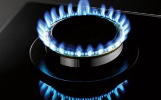 Kookpit met verticale vlammen